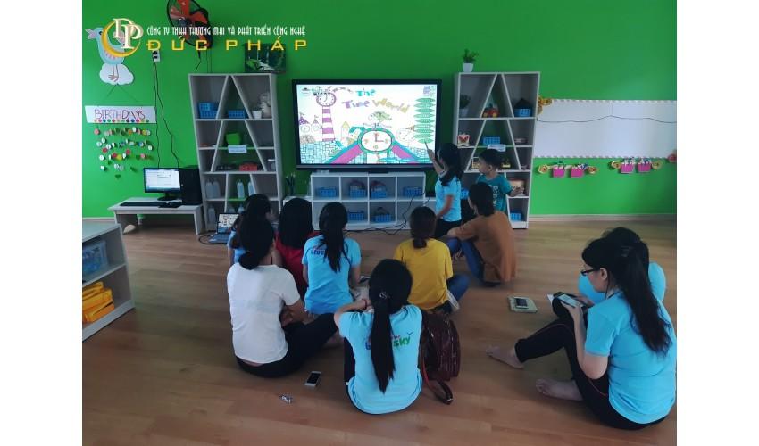 Trường mần non sử dụng màn hình tương tác thông minh ViewSonic