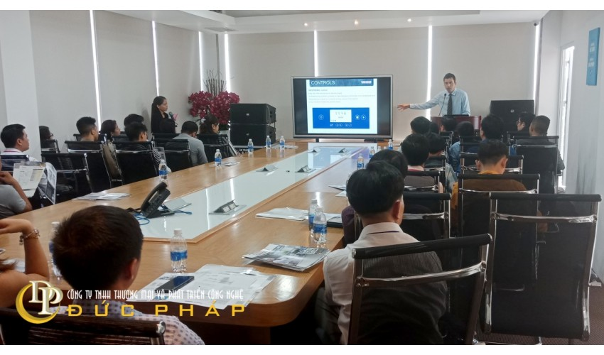 Màn hình tương tác thông minh ViewSonic IFP6550 sử dụng cho phòng họp thông minh tại doanh nghiệp quận 3