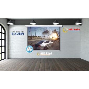 Màn chiếu treo tường điện Exzen 200 inch