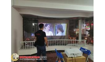 Công trình thi công lắp đặt máy chiếu cho 1 shop thời trang tại quận Tân Phú